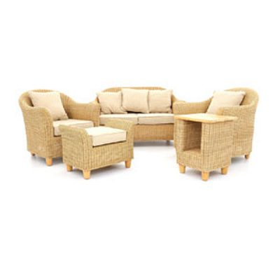 Alcester Natural Rattan Conservatory 6 Piece Suite