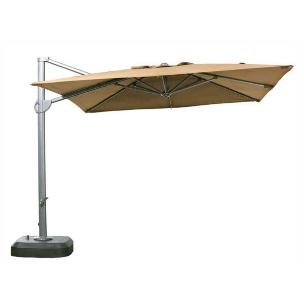 Heavy Duty Waterproof 3m Square Cantilever Parasol Cover Forest Green