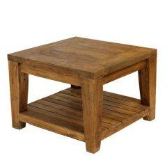 Lowry 60cm Square Reclaimed Teak Coffee Side Table