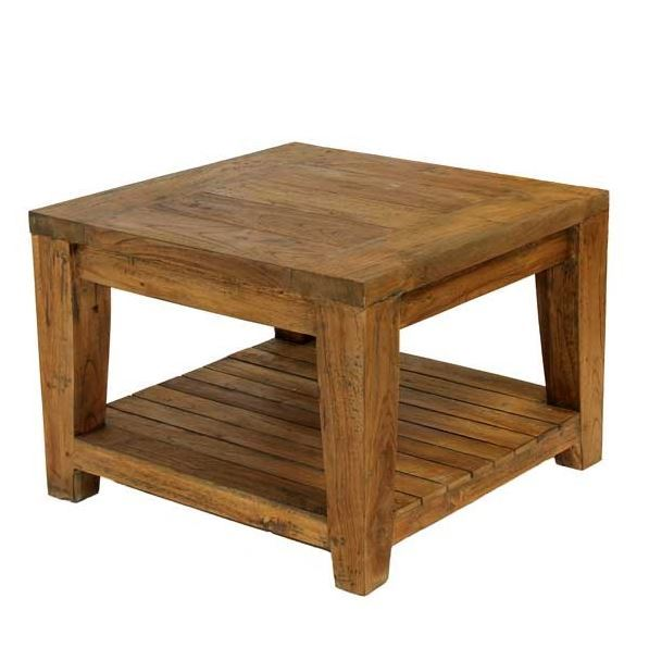 Lowry 60cm Square Reclaimed Teak Coffee Side Table