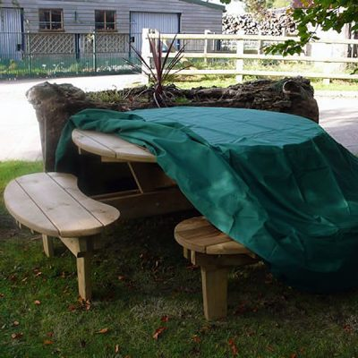 Heavy Duty Waterproof Round Picnic Table Cover