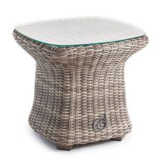 Sandbanks AquaMax Small Glass Top Garden Rattan Side Table