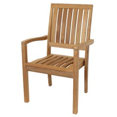 Hogarth Sustainable Teak Stacking Garden Armchair. Teak chair
