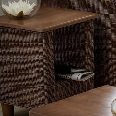 Alcester Brown Rattan Conservatory Side Table