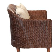 Alcester Brown Rattan Conservatory Armchair