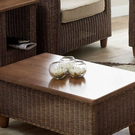 Alcester Brown Rattan Conservatory Storage Coffee Table