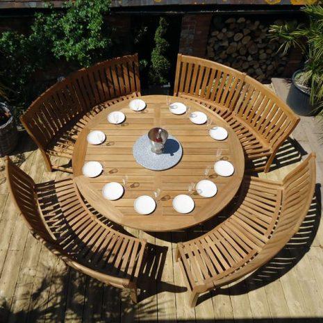 Betjeman Curved Bench Dining Set