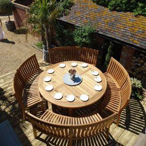 Betjeman 16 Seater Circular Teak Garden Dining Set