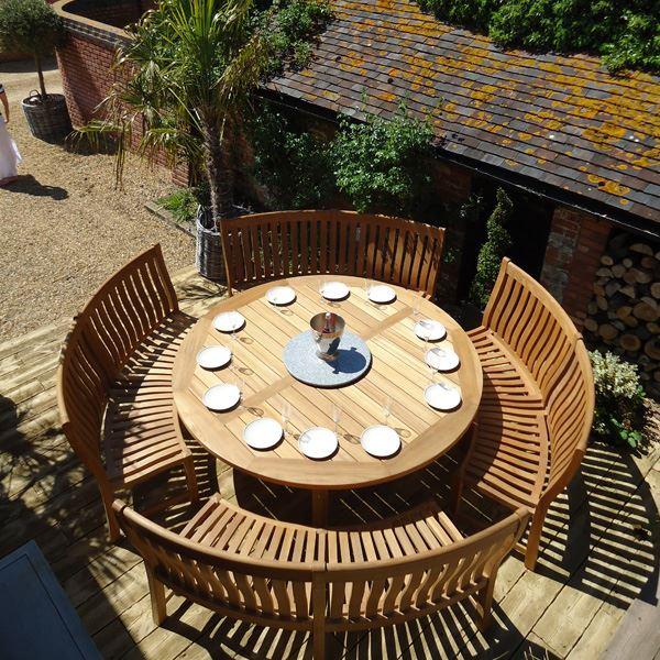 Miraculous Betjeman 16 Seater Circular Teak Garden Dining Set Cjindustries Chair Design For Home Cjindustriesco