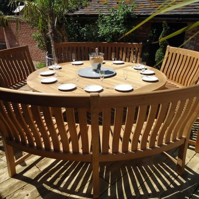 Betjeman Curved Bench Dining Set