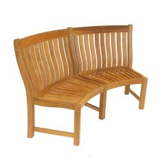 Betjeman 190cm Teak Curved Garden Bench or curved dining bench