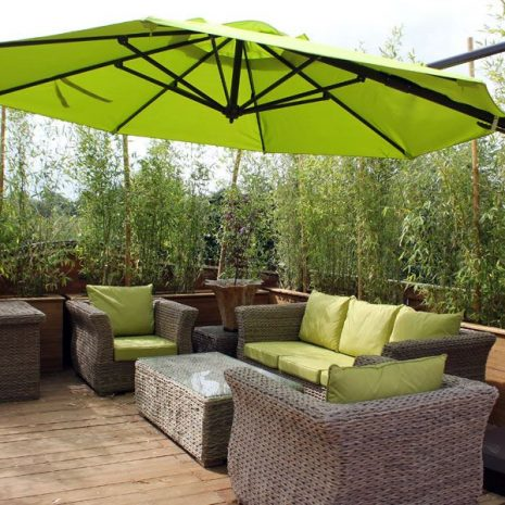 Garden parasols uk. Bonnington 350cm octagonal Tilting Cantilever Parasol - aluminium parasol