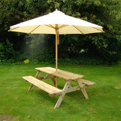 Bronte 1.4m Wooden Pine A Frame Picnic Table With Benches