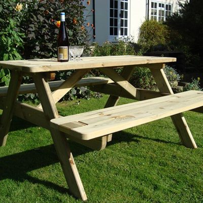 Bronte 1.8m Wooden Pine Large A Frame Picnic Table With Benches