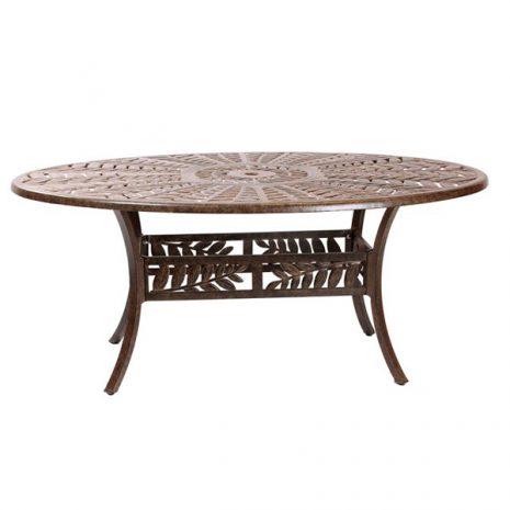 Forest 170cm Oval Cast Aluminium Table. Metal garden tables.