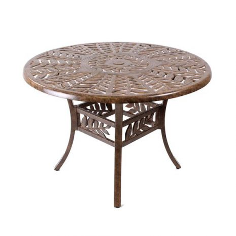 Cinnamon Leaf 106cm round Dining Table