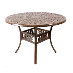 Forest 106cm Round Cast Aluminium Table. Metal garden furniture