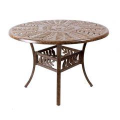 Forest 106cm Round Cast Aluminium Table. Metal garden furniture