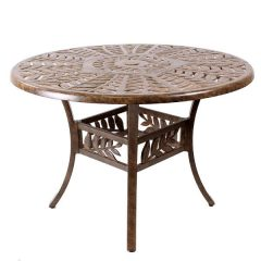 Forest 61cm Round Cast Aluminium Coffee Table. Metal Garden Furniture