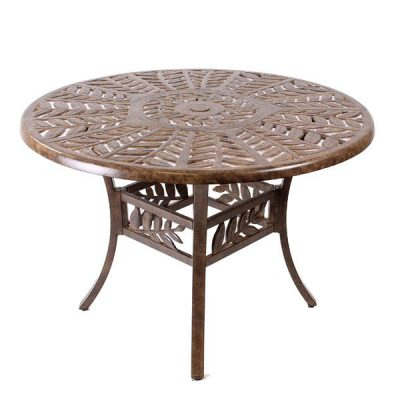 Cinnamon Leaf round coffee table