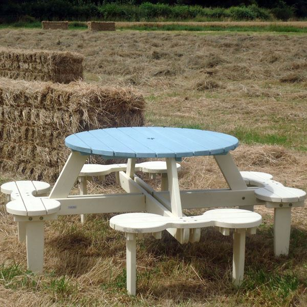 Miraculous Duffy 8 Seater 1 5M Round Picnic Bench Onthecornerstone Fun Painted Chair Ideas Images Onthecornerstoneorg