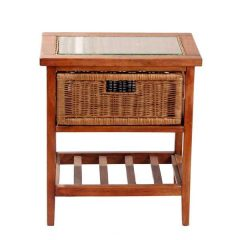 Lewes Brown Rattan Drawer Units
