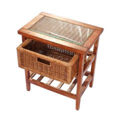 Lewes Rattan Conservatory Storage Unit - Single Drawer