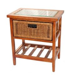 Lewes Brown Rattan Conservatory Storage Unit - Single Drawer