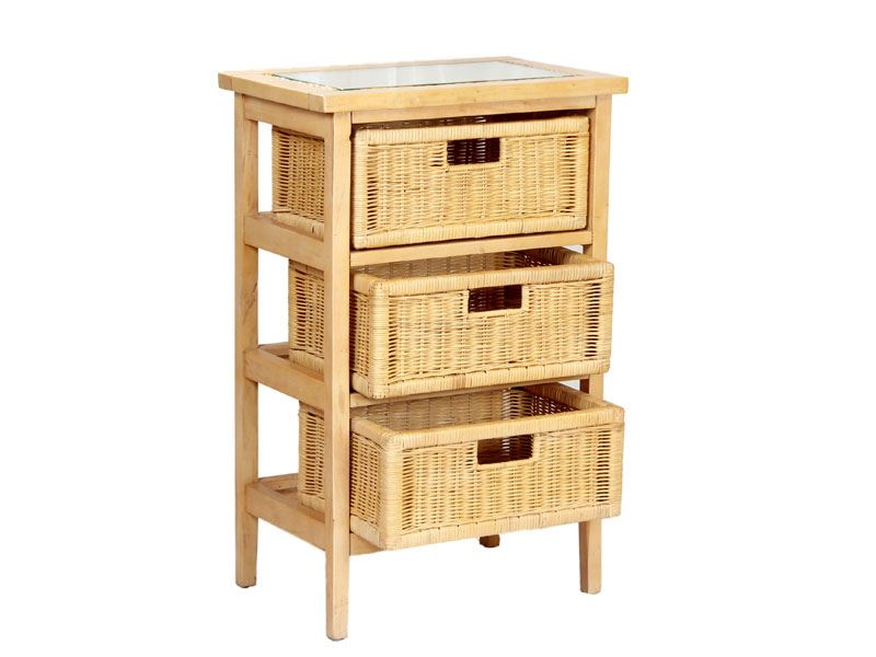 lewes natural rattan 3 drawer conservatory storage unit. Black Bedroom Furniture Sets. Home Design Ideas