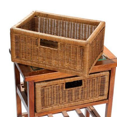 Lewes Brown Rattan Conservatory Drawer Basket