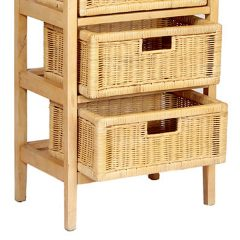Lewes Natural Rattan Conservatory Storage Drawer Basket