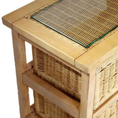 Lewes Natural Rattan 5-drawer Conservatory Storage Unit