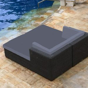 Clevedon Outdoor Rattan Double Day Bed. Contemporary day beds.