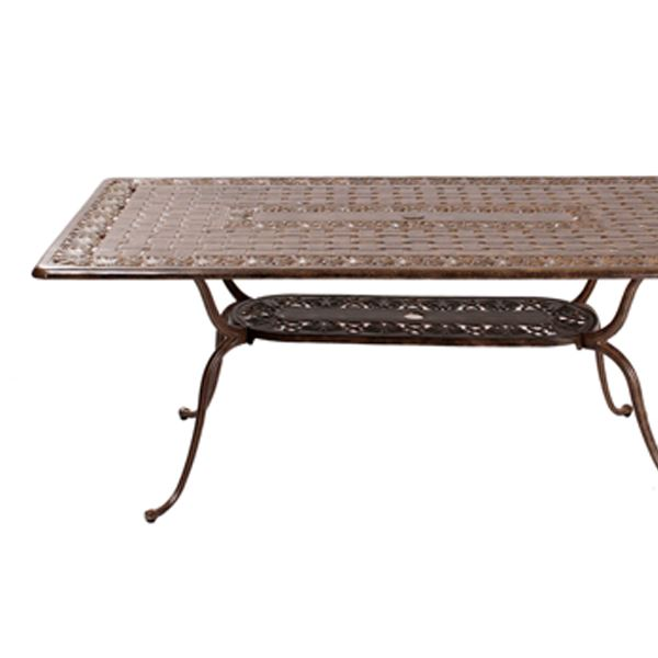 aa16331d9d92 180cm Rectangular Metal Garden Dining Table - Azur Coated Aluminium