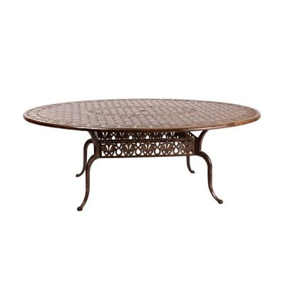 Azur 2m Metal Oval Garden Dining Table
