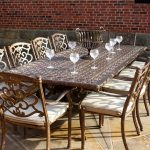 Azur 10 Seater Rectangular Metal Garden Dining Set