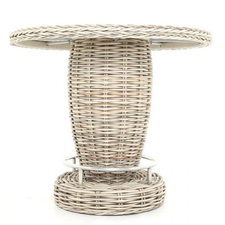 Poole Round Rattan Outdoor Bar Table With Ice Bucket