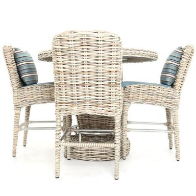 Poole Rattan 4-Seater Outdoor Bar Set