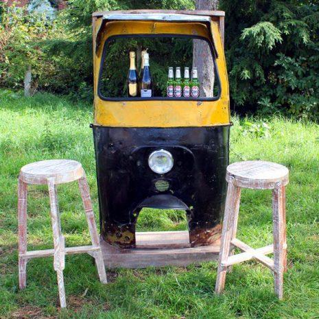 Tuk Tuk 2-Seater Bar Set made from upcycled materials