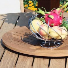 50cm Round Outdoor Teak Lazy Susan