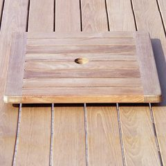 60cm Square Outdoor Teak Lazy Susan