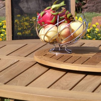 75cm Round Outdoor Teak Lazy Susan