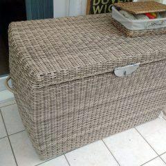 Sandbanks AquaMax Large Outdoor Garden Rattan Storage Box