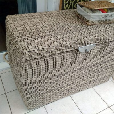 Sandbanks AquaMax Medium Outdoor Garden Rattan Storage Box