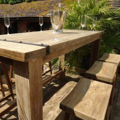 Reclaiimed Teak Bar Set
