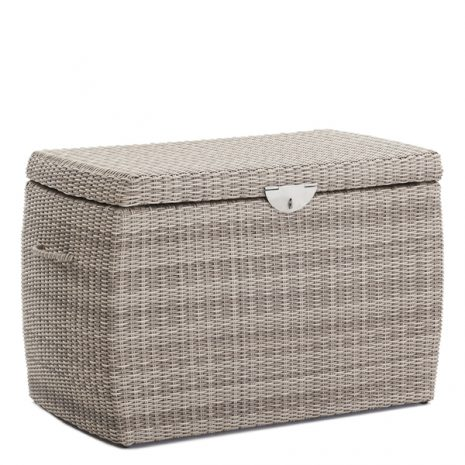 Sandbanks AquaMax Medium Outdoor Garden Rattan Storage Box Cushion Box. Garden furniture rattan