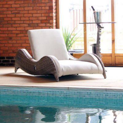 Sandbanks AquaMax Outdoor Garden Rattan Sun Lounger. Outdoor furniture rattan