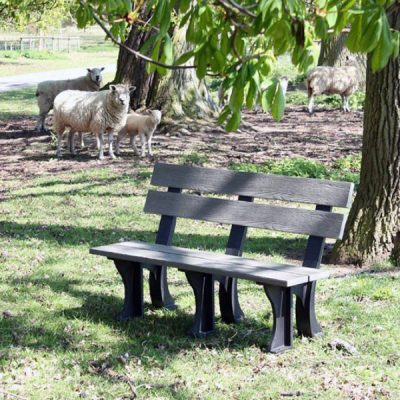 Orwell 130cm 3 Seater Recycled Outdoor Plastic Bench