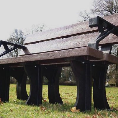Orwell 1.3m Recycled Eco Plastic Bench With Arms