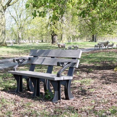 Orwell 1.5m Recycled Eco Plastic Bench With Arms